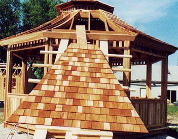 Gazebo roofing information pre-assembled Summerwood