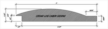 Cabin materials Cedar Log Cabin Siding Profile Summerwood