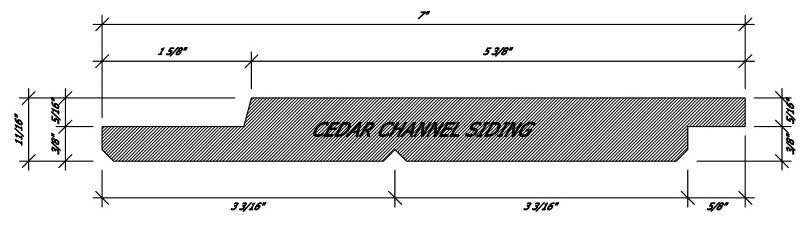 Cabin materials Cedar Channel Siding Profile Summerwood