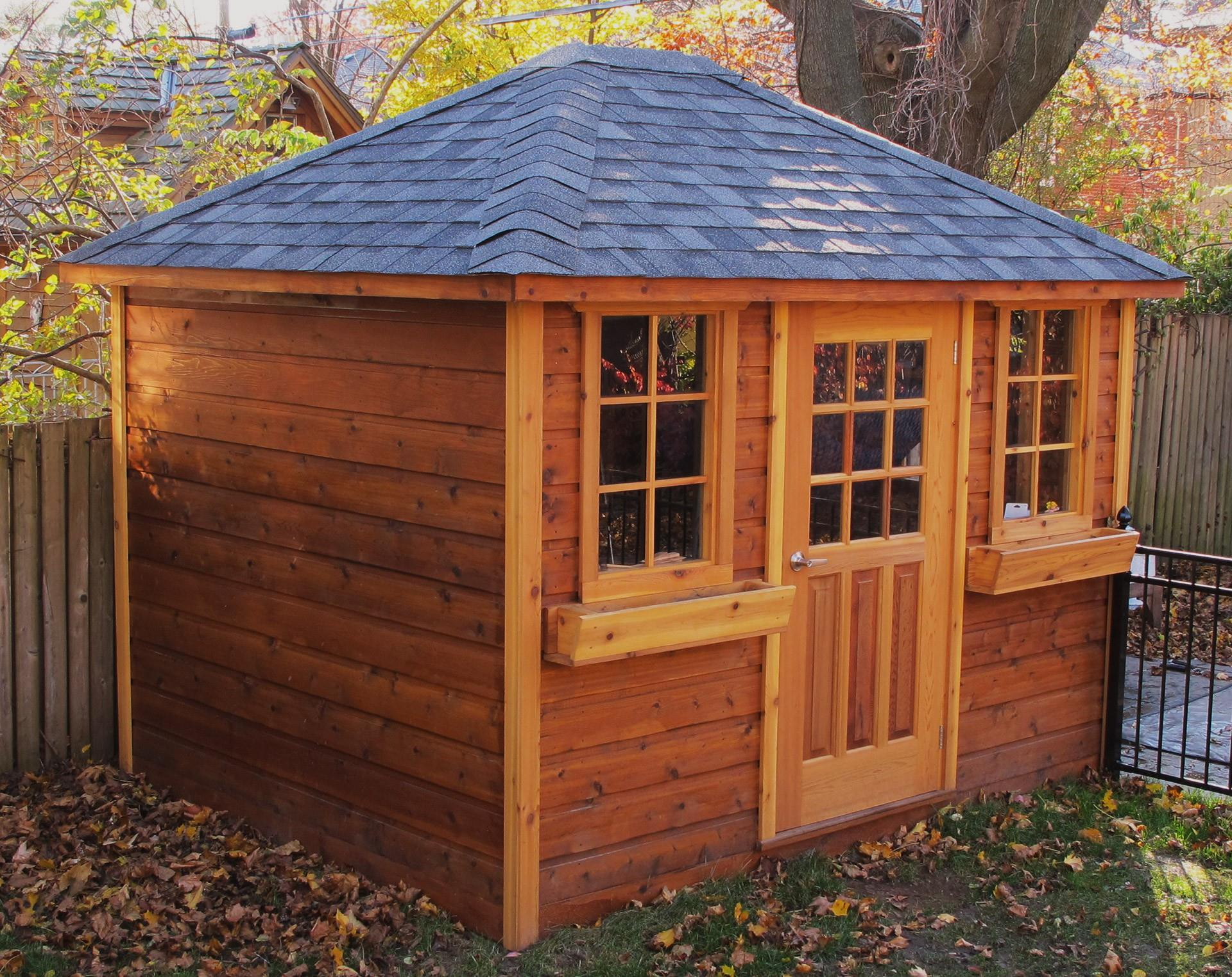 Shed staining information natural transparent finish Summerwood
