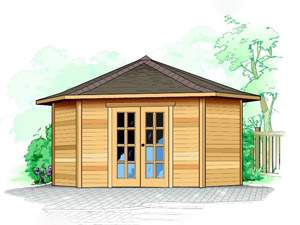 Catalina Shed – 5 Sided Garden Shed Plans