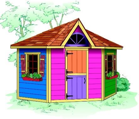 Petite Pentagon Playhouses Summerwood
