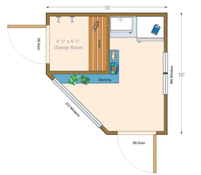 Catalina pool cabanas summerwood products for Pool cabana floor plans