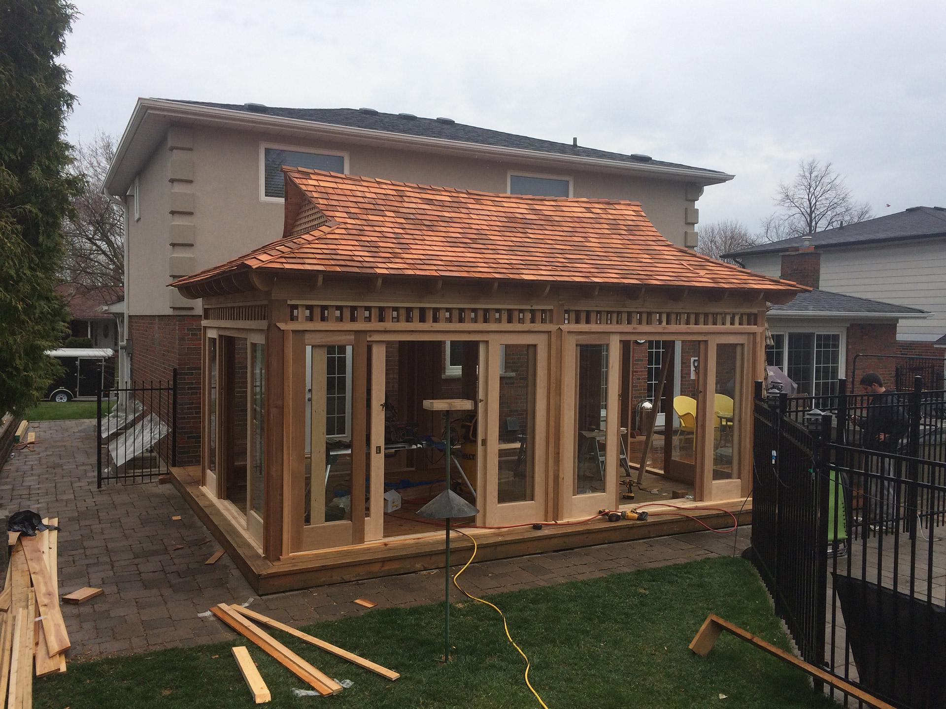 Bali Tea house Gazebo | Summerwood Tea House Design Cedar on cedar shed design, cedar home design, cedar greenhouse design,