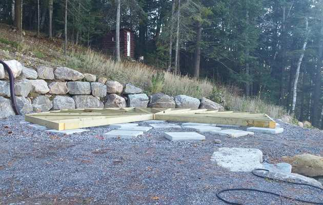 Champlain outdoor spa foundation & floor sections
