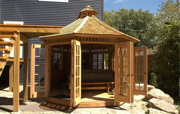 Champlain spa enclosure summerwood for French style gazebo