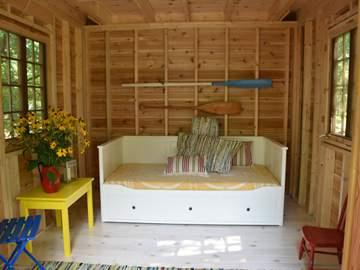 Downstairs Interior: or choose a bunk-bed, pull out sofa, or any furnishings you like.