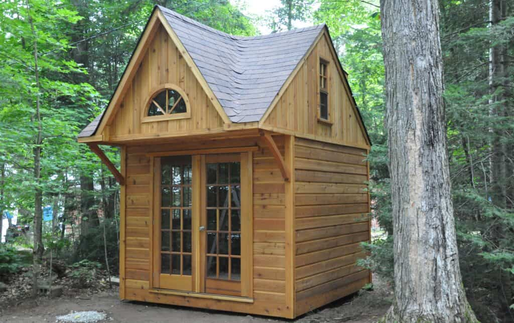 Our 10 x 10 Cottage Bunkie doesn't need a permit!