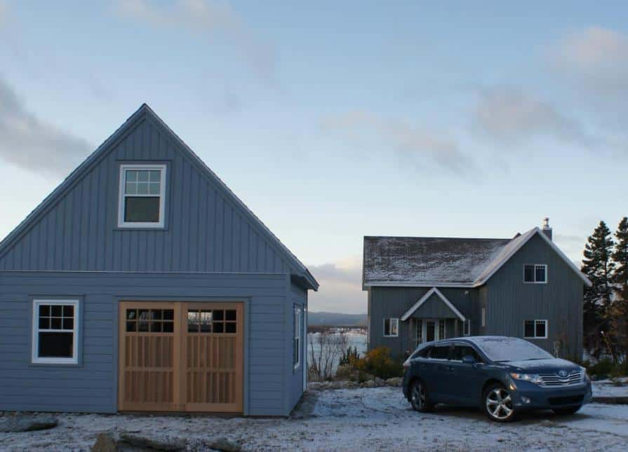 A 12/12 pitch allows for an additional loft space up above. Read more about our garage styles here.